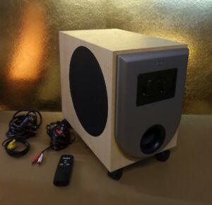 aktiv subwoofer teufel 200 watt mit fernbedienung und. Black Bedroom Furniture Sets. Home Design Ideas