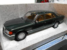 MERCEDES BENZ W126 S-Klasse 560 SEL dark green grün met HQ 1988 Norev NEU 1:18