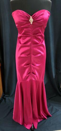 90s Magenta Pink Maxi Dress Mermaid Formal Escape
