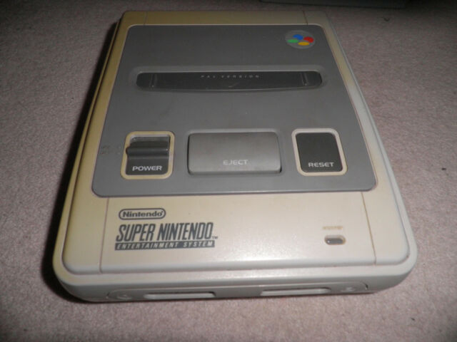 official Super Nintendo snes  Console unit -  tested & working - some yellowing