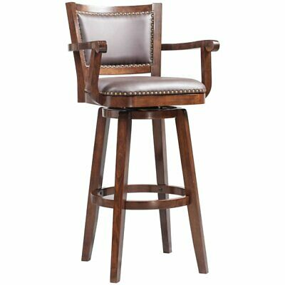 Boraam Broadmoor 34 Faux Leather Swivel Extra Tall Bar Stool 888437518349 Ebay
