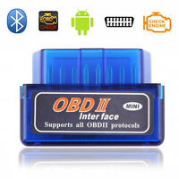 New Bluetooth Mini OBD2 OBDII ELM327 V2.1 Android Adapter Car Auto Scanner
