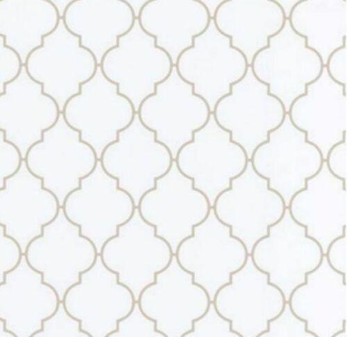 Klebefolie Möbelfolie Dunja Ornamente weiß Dekorfolie 45 cm x 200 cm Folie