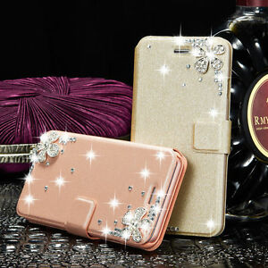 Bling-Crystal-Diamond-Case-Leather-Flip-Cover-Wallet-For-Samsung-Galaxy-amp-iPhone