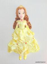 "Disney Store Belle Beauty and the Beast Princess Plush Doll Satin Dress 20"" P80"