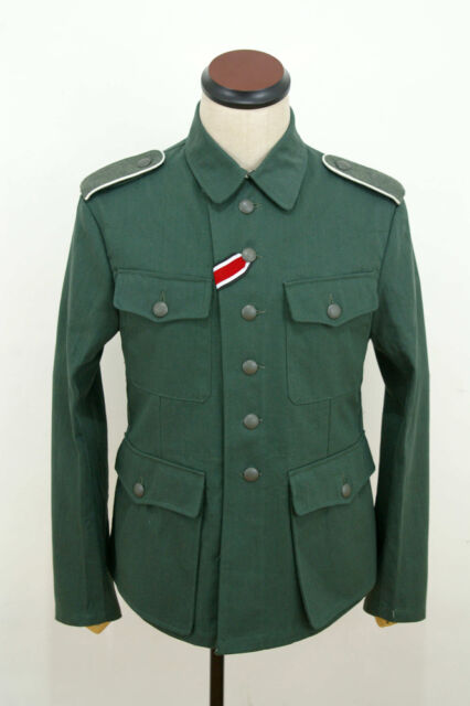 WWII German M42 heer summer HBT reed green field tunic L