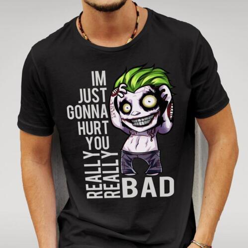 Men/'s Black or white  Suicide Squad Style Joker /'Hurt You/' T-shirt