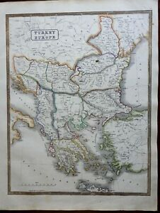 Ottoman-Empire-Balkans-Romania-Bulgaria-Serbia-Wallachia-Albania-1846-scarce-map