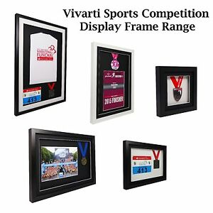 Vivarti Sports Shirt Medaille Course Numero Competition Affichage Cadre Photo Ebay