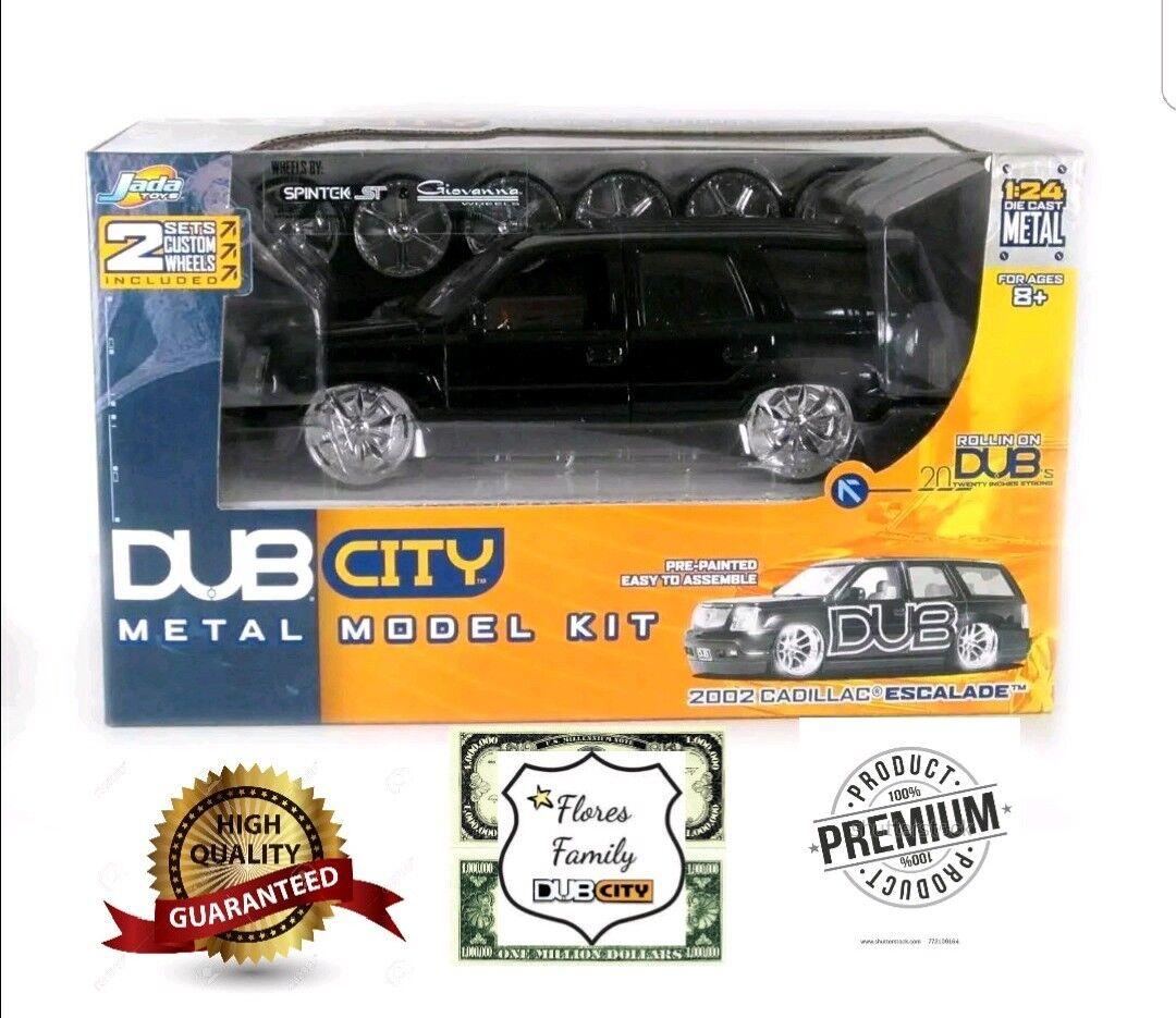 Dub City  2002 Cadillac Escalade Modelo Modelo Modelo Kit (negro) Escala 1 24.   2 juegos de ruedas a87fa6