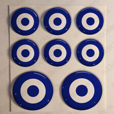 8 x Roundel Cockade Albania 3D Stickers Resin Domed Adhesive Air Force
