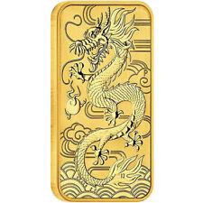 2018 1 oz Australian Rectangular Gold Dragon Coin (BU)
