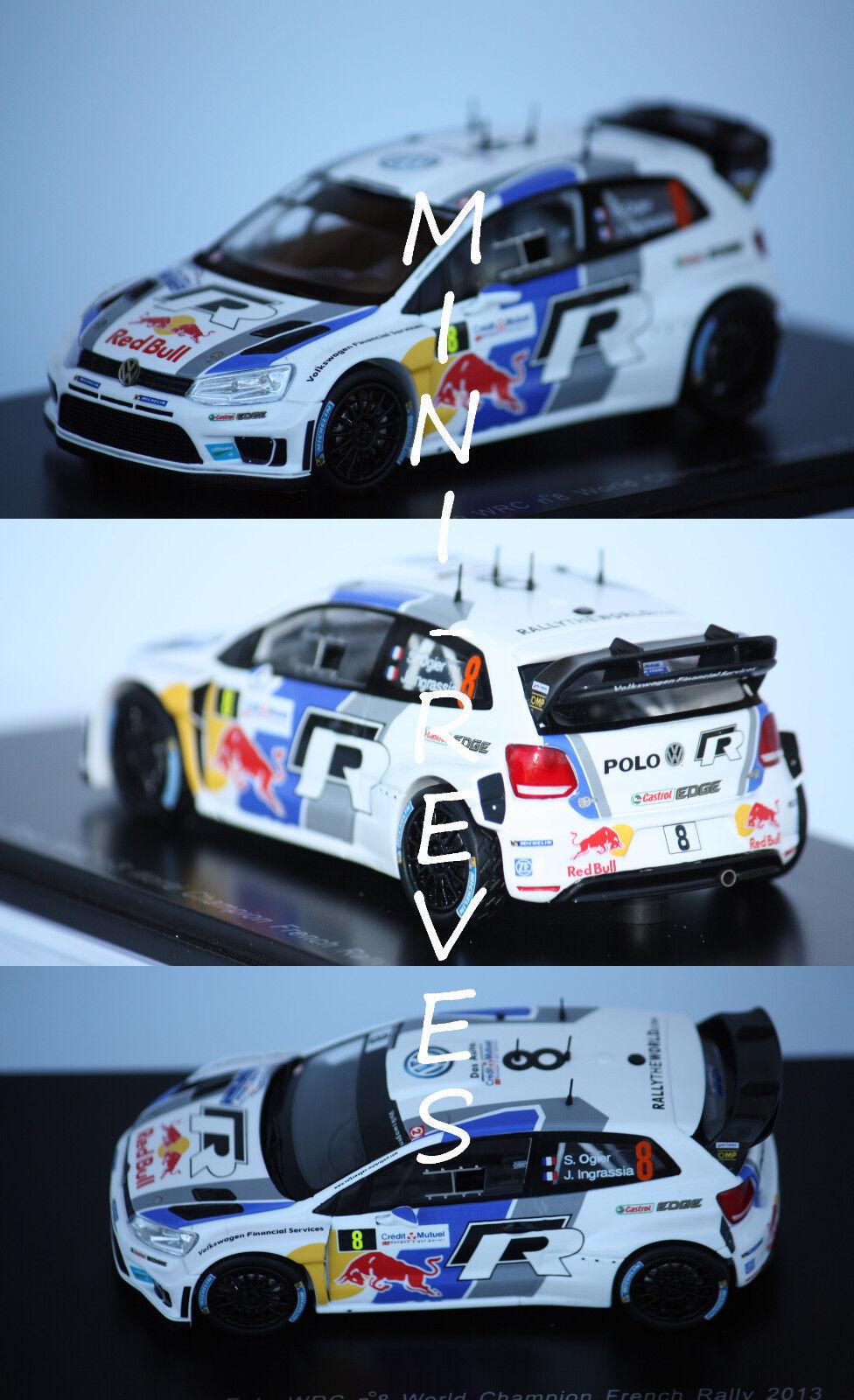 nueva marca Spark Volkswagen Polo WRC World World World Champ. 2013 S. Ogier 1 43 S3314  envío rápido en todo el mundo