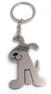 Perro-Perro-Sentado-Llavero-Colgante-de-Metal