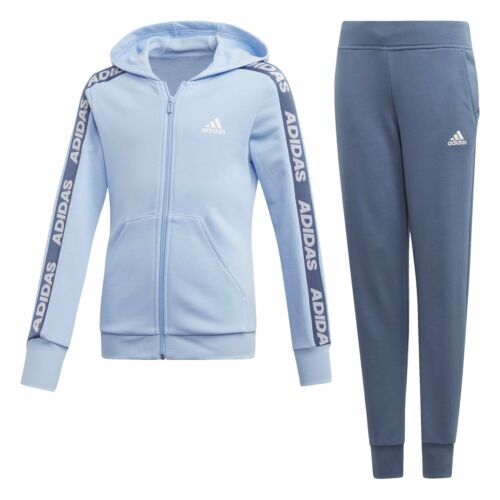 adidas Hd Cot Tracksuit Infant Girls Blue//Navy
