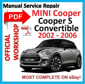 OFFICIAL-WORKSHOP-MANUAL-service-repair-FOR-MINI-COOPER-S-CONVERTIBLE-2002-2006