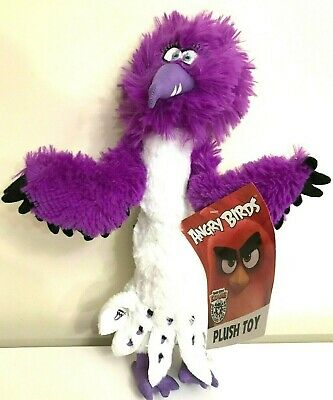 Large 15 Angry Birds 2 Purple Zeta Eagle Plush New Licensed Toy