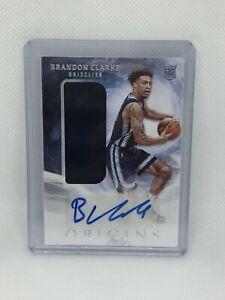 🔥🔥2019-20 Panini Origins Basketball Brandon Clarke Rookie Auto Jersey #161🔥🔥