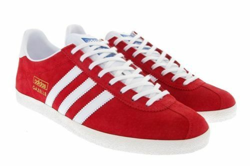 Originals Trainers Og Rouge tailles Adidas Gazelle Toutes University blanc Mens les gwdqIpS