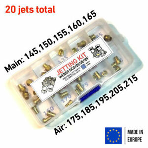 Jetting-Kit-Weber-DCOE-IDF-2x-Main-145-150-155-160-165-air-175-185-195-205-215