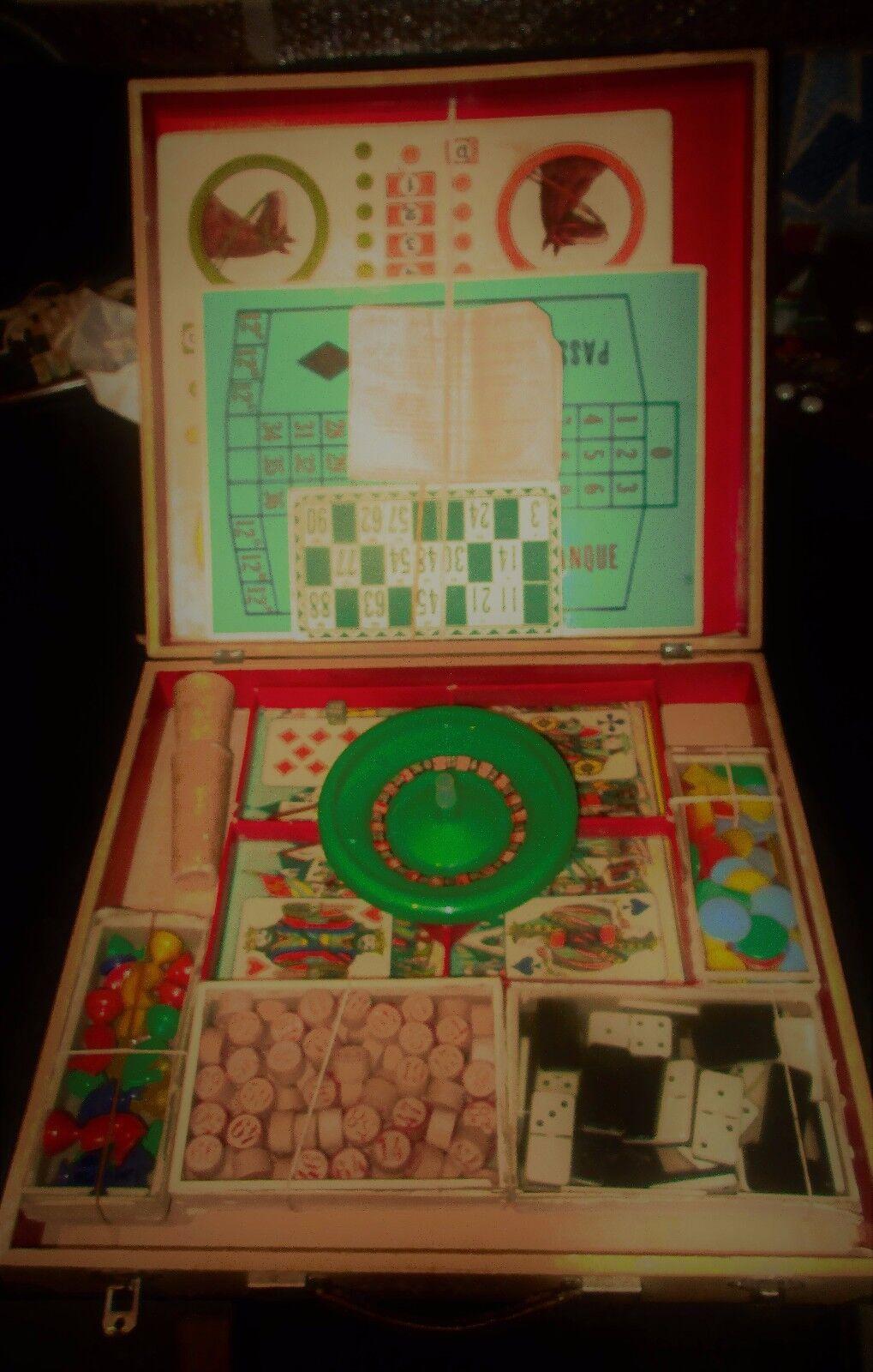 Unique Vintage France LITHO MIX jeu de plateau-Jeu du Nain Jaune-De 50 S