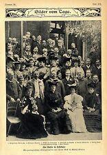 Deutscher Kaiser in Lissabon portugiesische Königsfamilie in Schloß Cintra 1905