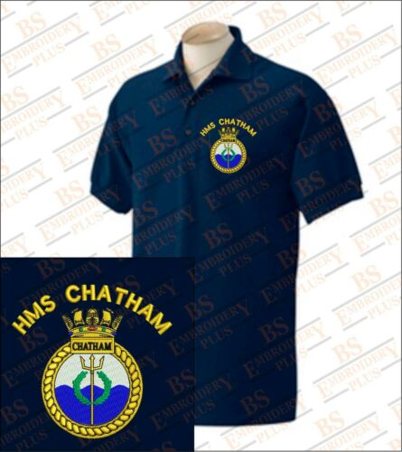 Hms Hms Hms Chatham Chatham polos bordados Chatham bordados polos qxxFzT4