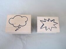 Craft Rubber on Wood Stamp by Judi Kins 1 pc. Cloud Stamp 1 pc. Star Burst  2 p