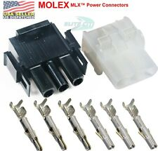 Molex 3 Pin Male Amp Female Wire Connect With14 20 Awg 3 Circuit 213mm Mlx