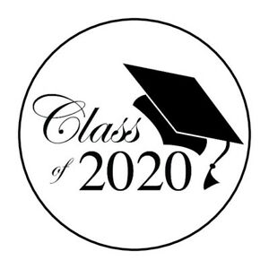 Graduation Clip Art 2020.Details About 30 Class Of 2020 Graduation Stickers Favors Cap Grad Lollipop Labels Party