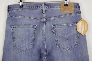 Straight P31 Mens Immaculate Faded Levis L32 Fly Button 501 W34 Blue Fit Jeans wZU41