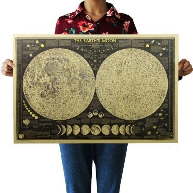 Vintage Retro Paper Earth The World Map Poster Wall Chart Home Decor 72.5*35.5cm