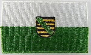 Sachsen-Aufnaeher-gestickt-Flagge-Fahne-Patch-Aufbuegler-6-5cm-neu
