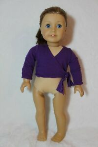 American-Girl-Doll-Marisol-2005-GOTY-Meet-Outfit-Wrap-Around-Purple-Wrap-Rare