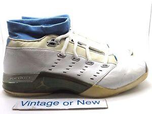9c5d34ca826564 VTG OG Air Jordan XVII 17 Low White University Blue 2002 sz 13