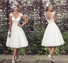 Summer Short Wedding Dresses Backless A-Line 1950's Vintage Bridal Gowns Custom
