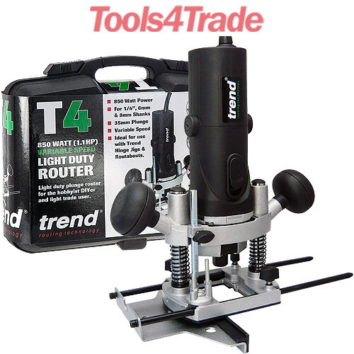 """Trend T4ELK 115V 1//4/"""" Variable Speed Router 850W C//W Kitbox"""