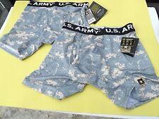 2 Prs NWT Men's US ARMY Compression Underwear Boxer Brief Digital Camo Small