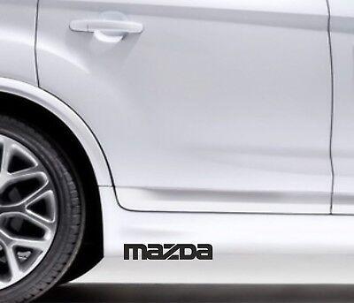 Herzhaft 2x Seitenaufkleber Aufkleber Passt Mazda 3 5 6 Sticker Tuning Logo Kb47 Weniger Teuer