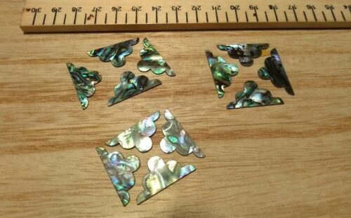 Inlay 12 Paua  Shell Fancy Corner Pieces Restoration