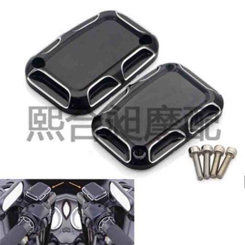 2Pcs Brake and Clutch Master Cylinder Cover For Harley V Rod Muscle VRSCF 09-17