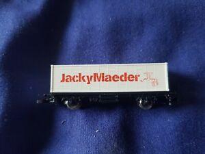 RARE Marklin Mini-Club Z Gauge 8617,901 Jacky Maeder container wagon