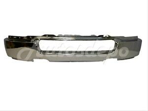 For 2004-2005 Ford F150 Pickup Front Steel Bumper Face Bar Chrome (W/O Fog Hole) 643307217254