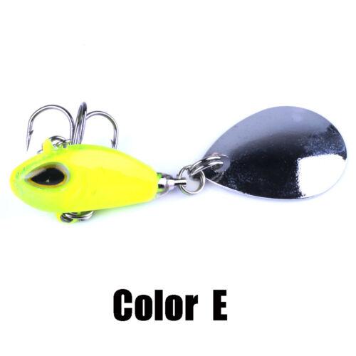 Rotate Vibration Wobblers Crankbaits Treble Hook VIB Lure Metal Fishing Bait