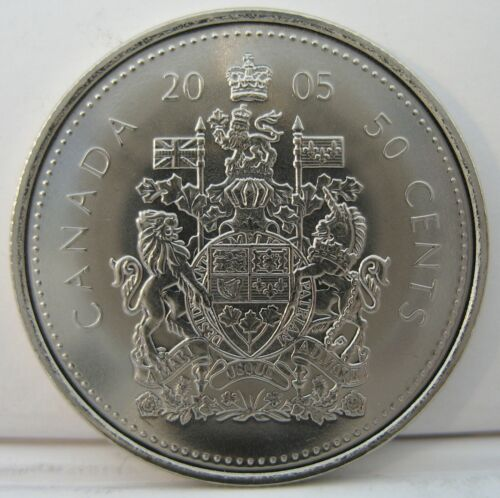 2005-p BU From a new roll Coat of Arms RCM 50-cents