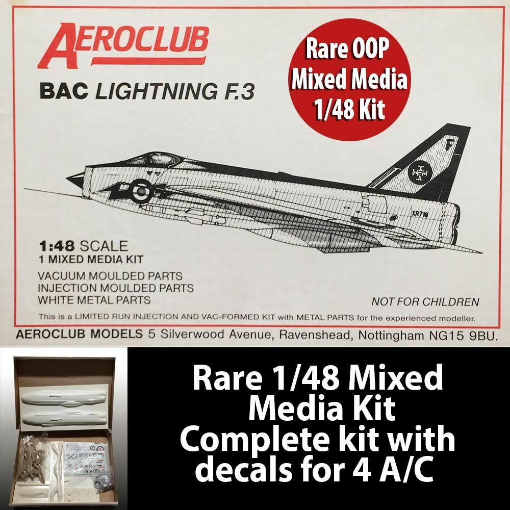 Aeroclub 1 48 Scale BAC Lightning F.3 Limited Edition Rare OOP Mixed Media Kit