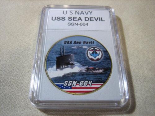 SSN-664 Challenge Coin US NAVY SUBMARINE USS SEA DEVIL