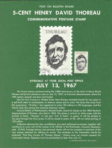 1327-Henry-David-Thoreau-Stamp-Poster-Unofficial-Souvenir-Page-Flat-HC