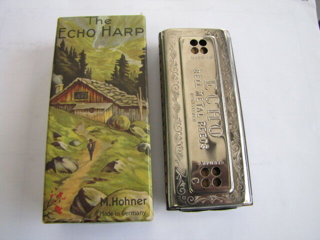 The Echo Harp by M Hohner Vintage Harmonica C and G with Box NICE  Germany