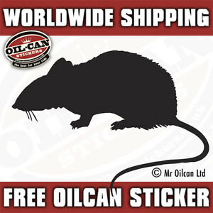 matt black rat sticker ratlook hoodride patina 130mm x 95mm